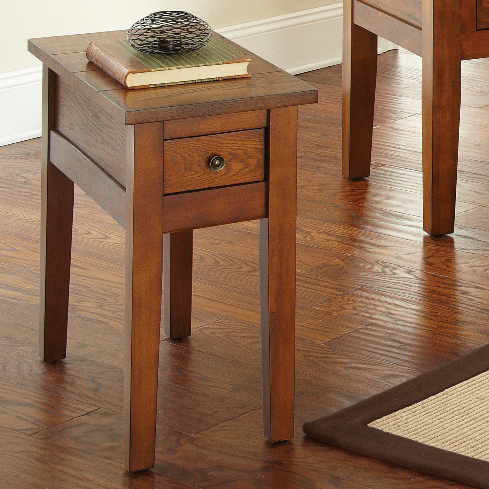 Steve Silver Desoto Rectangle Dark Oak Wood Chairside End Table