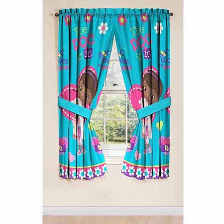 Disney\'s Doc McStuffins Drapery Curtain Panel, Set of 2 - Walmart.com
