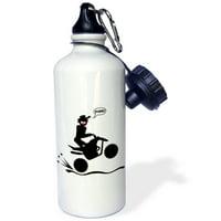 3dRose stickman holeshot image, quad atv sports, Sports Water Bottle, 21oz