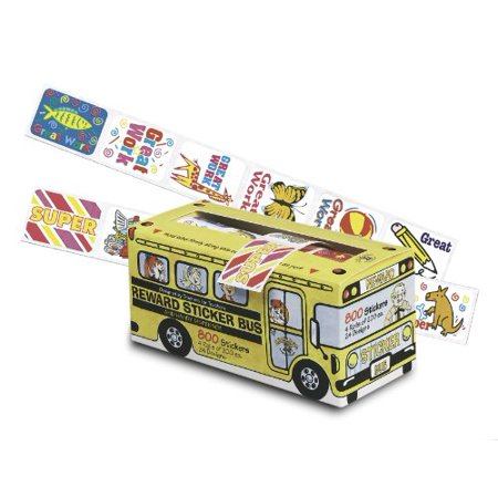 Pacon School Bus Rewards Stickers   Assorted   1  X 1 3    Assorted  Pac51450