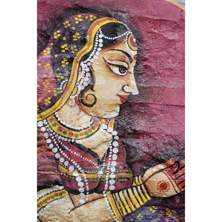 Traditional Painting On A Wall Jodhpur Rajasthan India Canvas Art - David DuChemin  Design Pics (12 x 18)