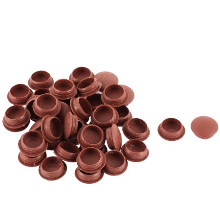 Unique bargains furniture pipe end plastic 12mm hole cover for 1 furniture hole cover