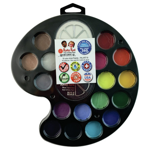 RUBY RED PAINT, INC. 18 Color Artist's Palette