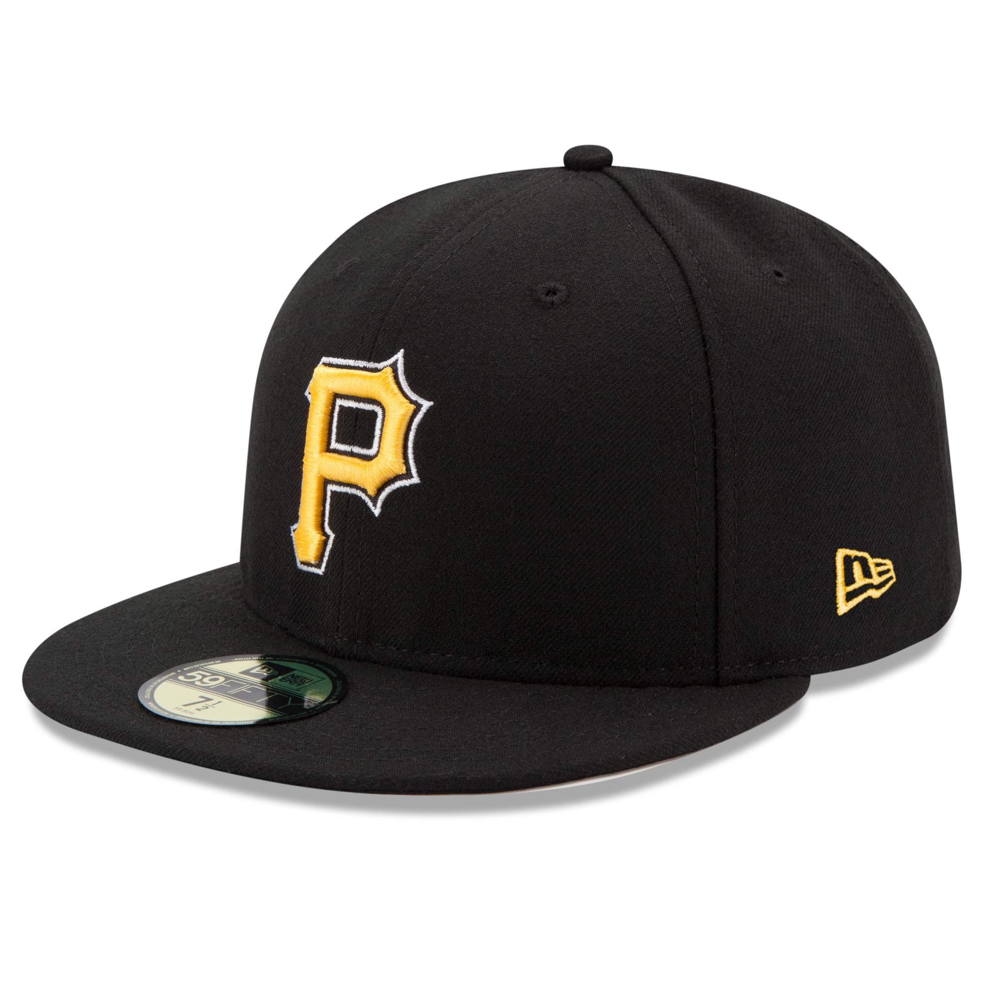 Pittsburgh Pirates New Era Alternate Authentic Collection On-Field 59FIFTY Fitted Hat - Black