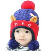 Fymall Baby Girls Boys Cute Knitting Cap Winter Warm Hat