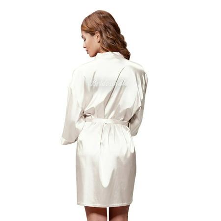 9e76cdea4a Turquaz Linen - Turquaz Linen Satin Kimono Rhinestone Bridesmaid ...
