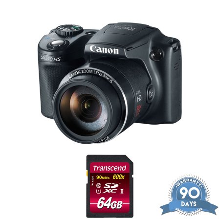 Canon Power Shot SX510 HS Point-and-Shoot Camera - with Memory Card - RENEWED (Nikon Camera Point And Shot)