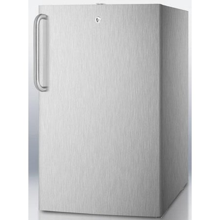 Cm411lcss 20  Medically Approved Compact Refrigerator With 4 1 Cu  Ft  Capacity  Professional Towel Handle  Interior Light And Crisper Drawer  In Stainless Steel