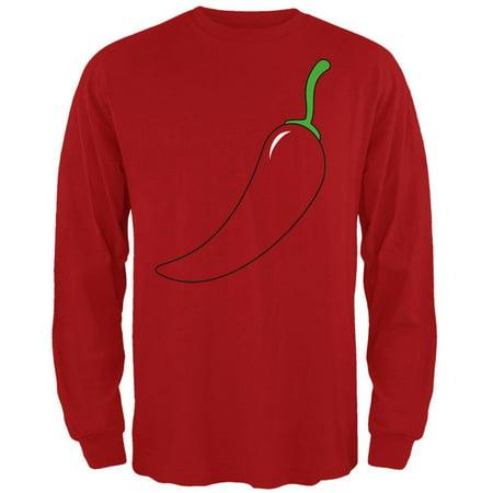 Halloween Chili Pepper Costume of Cinco de Mayo Mens Long Sleeve T Shirt - Mayor Costume