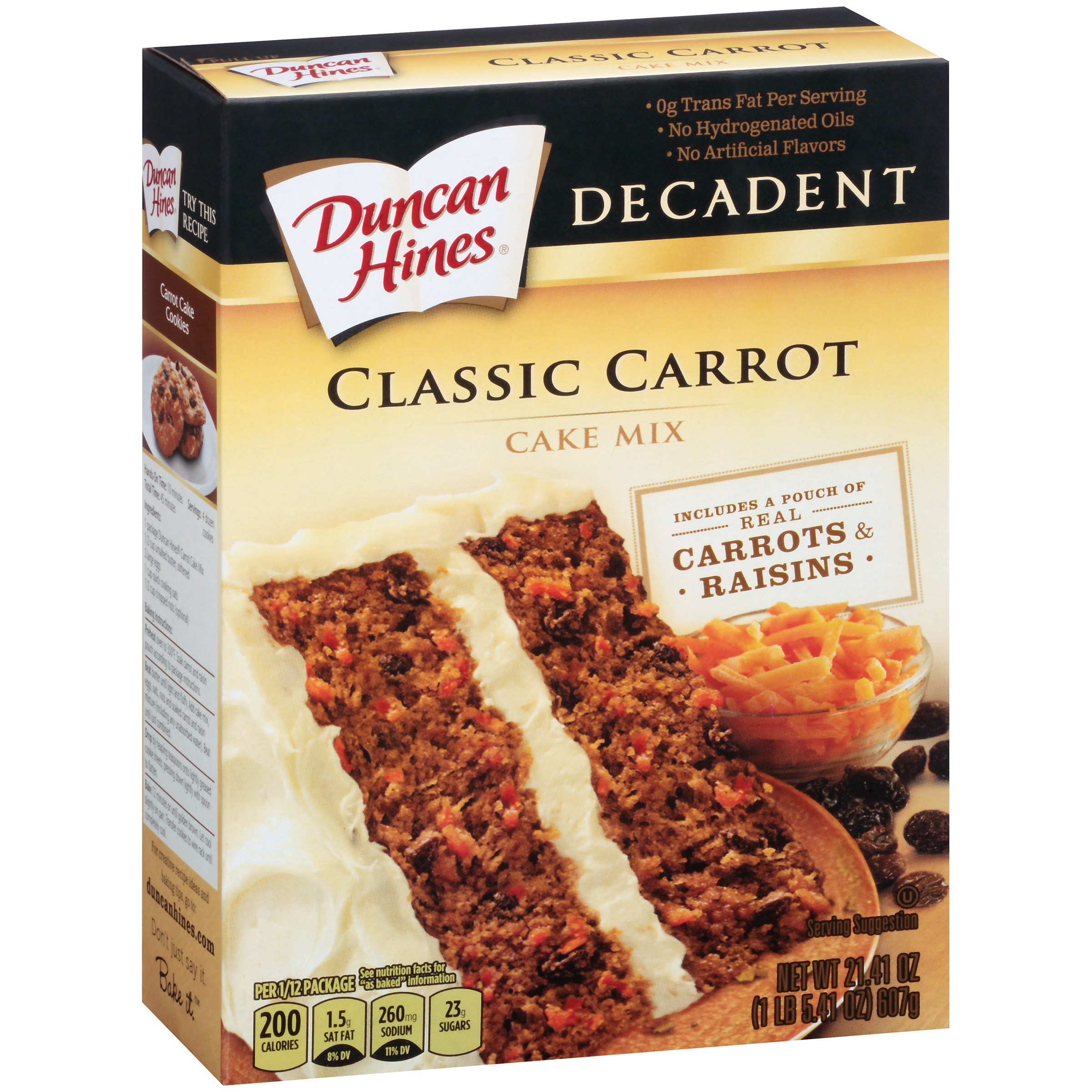 Duncan Hines® Decadent Classic Carrot Cake Mix 21.41 oz. Box