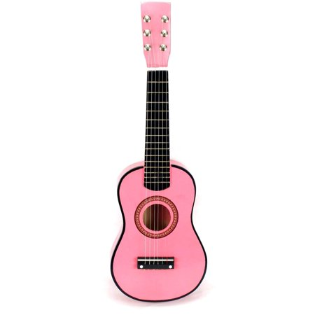 Pink Classic Rock 'N' Roll 6 Stringed Acoustic Guitar Toy Guitar Musical Instrument for Kids, Includes: Guitar Pick & Extra Guitar String](Pink Guitar)