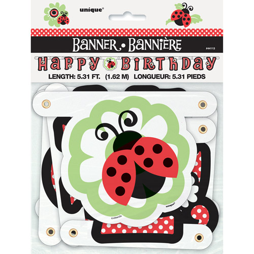 Ladybug Party Birthday Banner