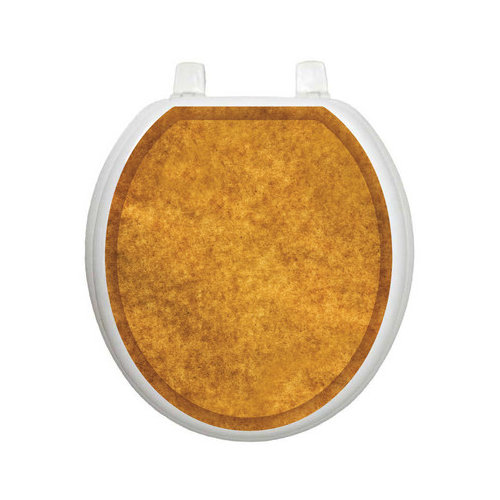Toilet Tattoos Classic Caramel Sponge Toilet Seat Decal