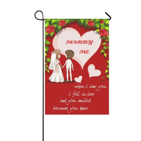 MYPOP Wedding Couple Quotes Long Garden Flag Banner 12 x 18 inch