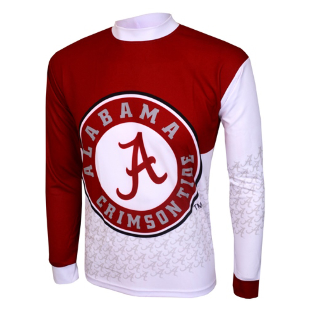 Adrenaline Promotions University of Alabama Crimson Tide Long Sleeve Mountain Bike Jersey