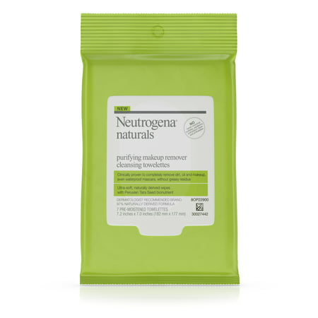 (2 Pack) Neutrogena Naturals Purifying Makeup Remover Cleansing Wipes, 7 ct.