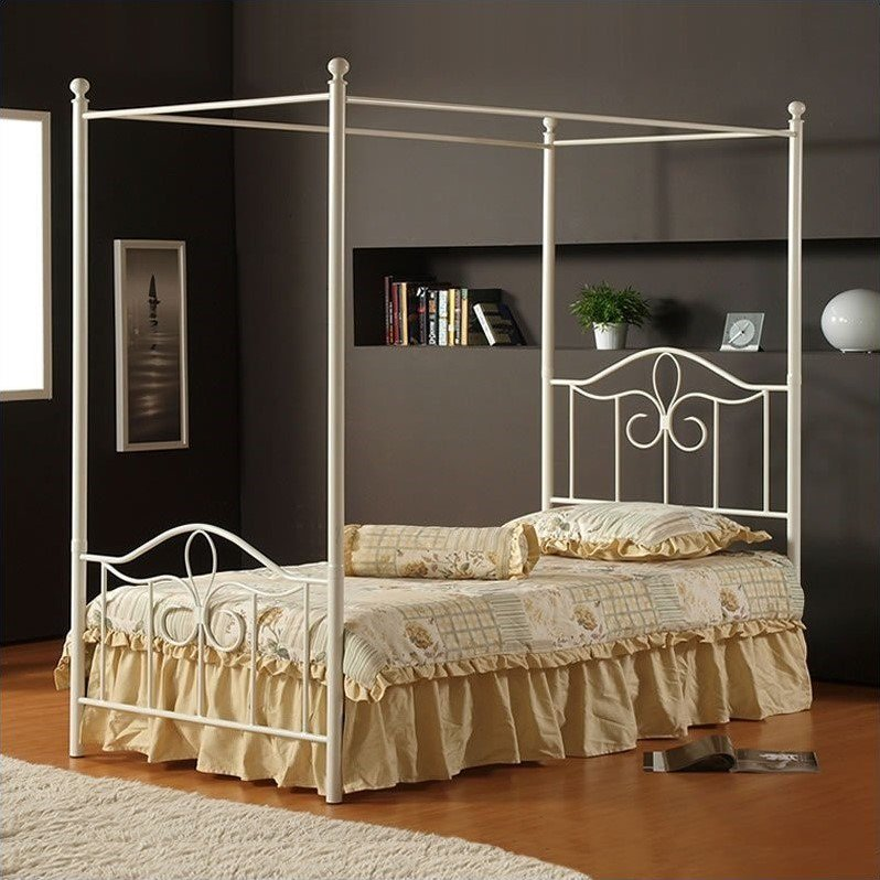 Hillsdale Furniture Westfield Full Canopy Bed with Bedframe by Hillsdale