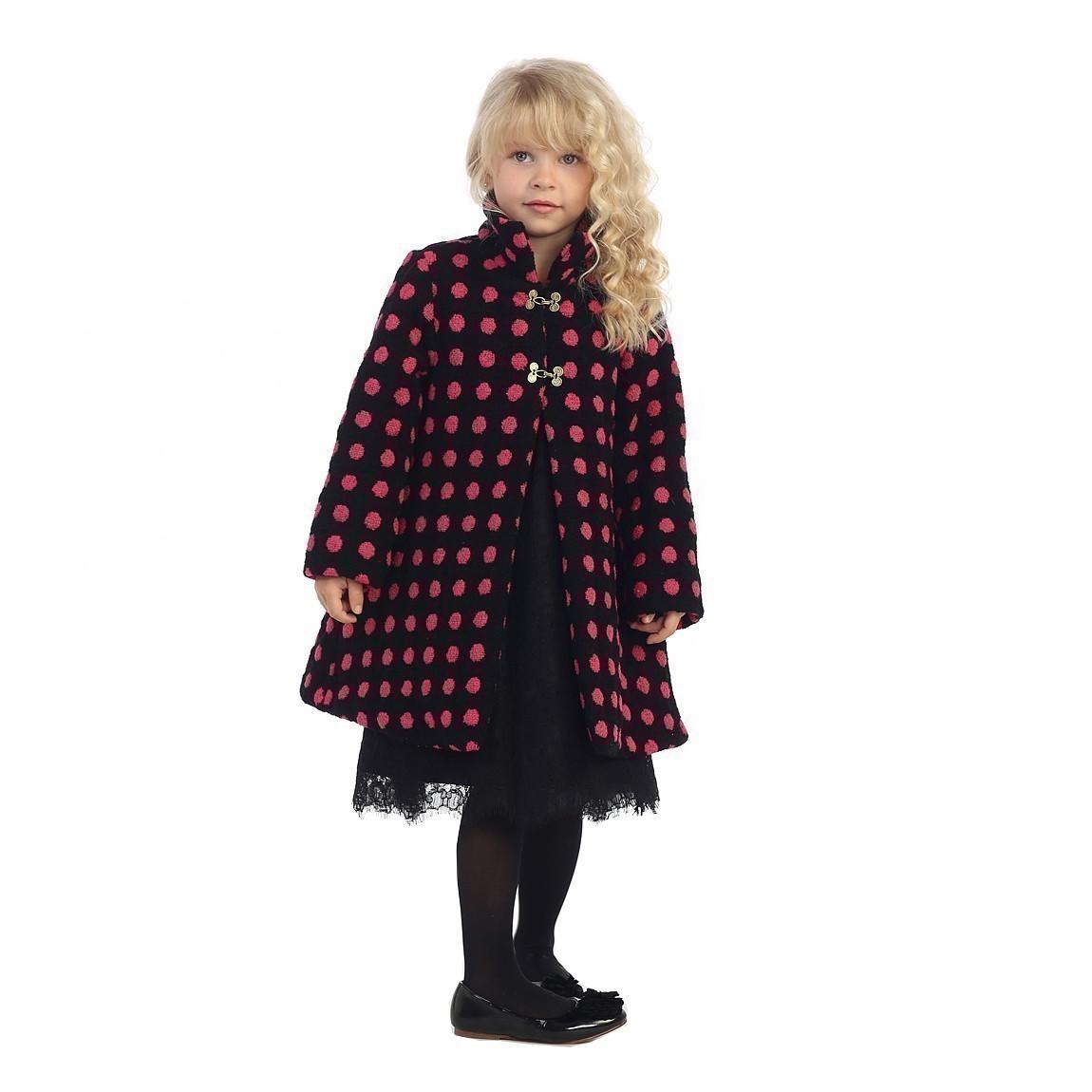Angels Garment Girls Black Pink Polka Dotted Fall/Winter ...