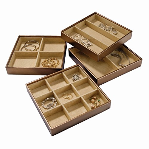 Stock Your Home Stackable Jewelry Organizer Trays Set of 4 For Use
