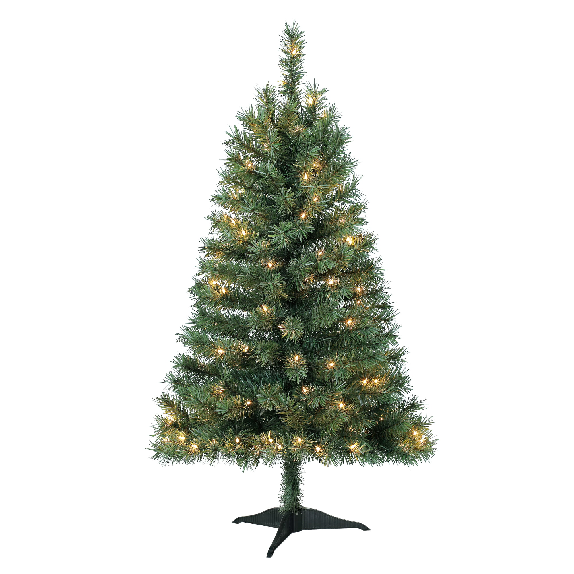 Holiday Time 4ft Pre-Lit Indiana Spruce Green Artificial Christmas ...