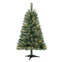 product image holiday time 4ft pre lit indiana spruce green artificial christmas tree with 105 clear lights