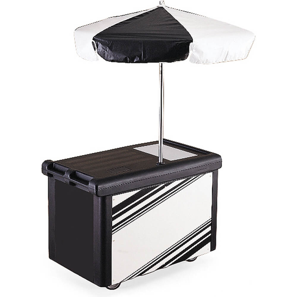 Cambro Camcruiser Vending Cart with Umbrella, Black, CVC5...