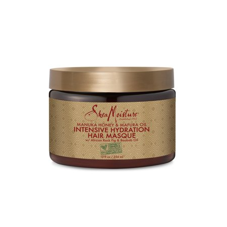 SheaMoisture Manuka Honey & Mafura Oil Intensive Hydration Hair Masque, 12 (Best Hair Mask For Dry Hair Uk)