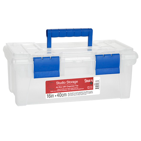 Studio 71 Large Craft Toolbox with Built-In Organizer Top: 16 inches