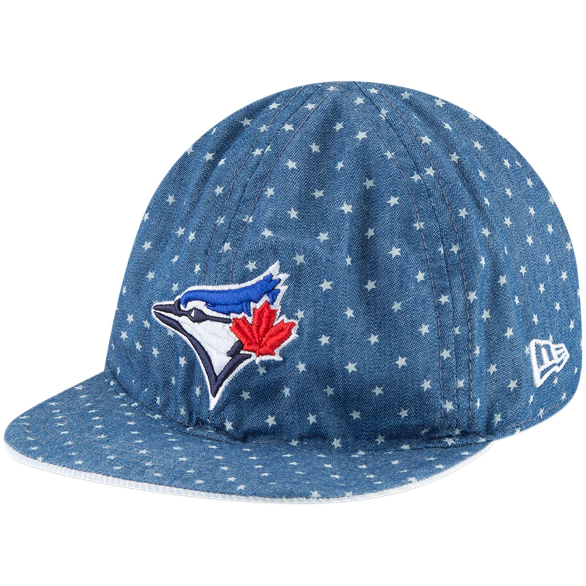 Toronto Blue Jays New Era Infant Flip 9TWENTY Adjustable Hat - Denim/White - OSFA