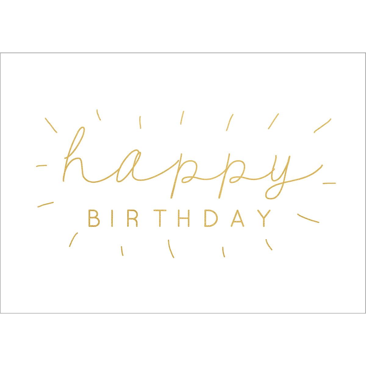 "Kaisercraft KS672 Kaisercraft Kaiser Style Greeting Card W/Envelope 5""X7"" - HBD (Happy Birthday)"