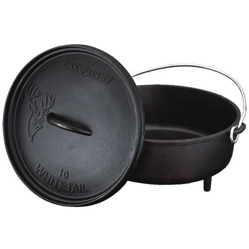 "Camp Chef Classic 10"" Pre-Seasoned Ready-to-Use Dutch Oven"