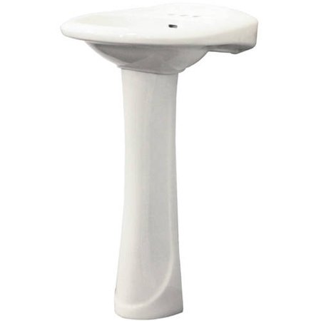 Supreme Vitreous China Lavatory - Transolid Two-Piece Madison Pedestal Lavatory, Available in Various Colors