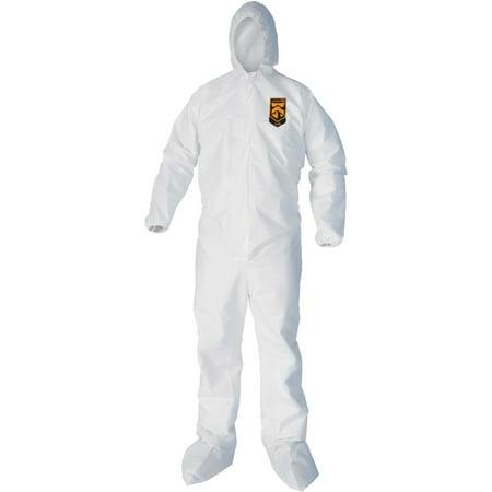 Kleenguard, KCC44332, A40 Protection Coveralls, 25 / Carton, White