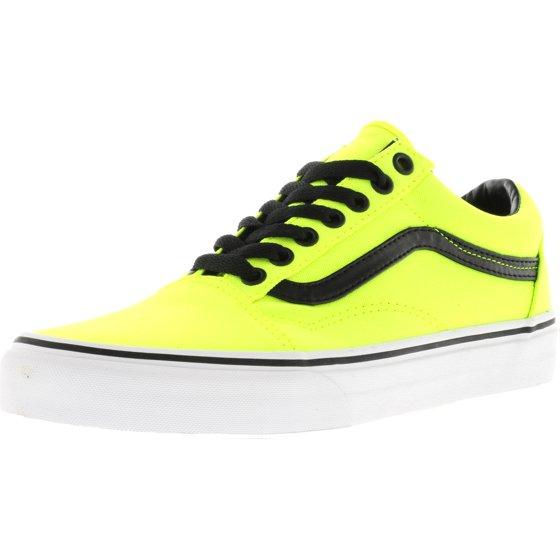8e3fc7e4f5e2 Vans - Vans Old Skool Brite Verdant Green   Neon Orange Ankle-High Canvas  Skateboarding Shoe - 7.5M 6M - Walmart.com