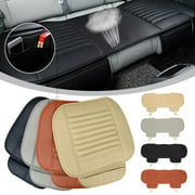 3 pcs 1Rear+2Front Car Universal Seat Cover Bamboo Breathable PU Leather Pad Chair Cushion US
