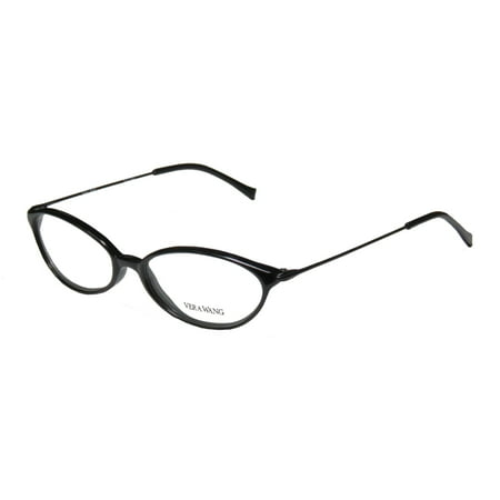 New Vera Wang V11 Womens/Ladies Cat Eye Full-Rim Black Sophisticated Classy Stunning Cat Eye Frame Demo Lenses 49-16-135 Eyeglasses/Eye -