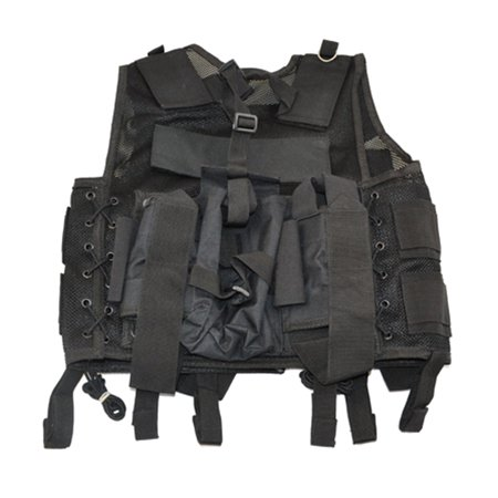 3Skull Paintball Tactical Web Vest w/Tank Pouch  - Black