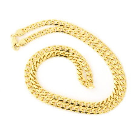 Mens Solid 14K Yellow Or White Gold 4 5Mm Heavy Miami Cuban Link Chain Necklace  20   22   24