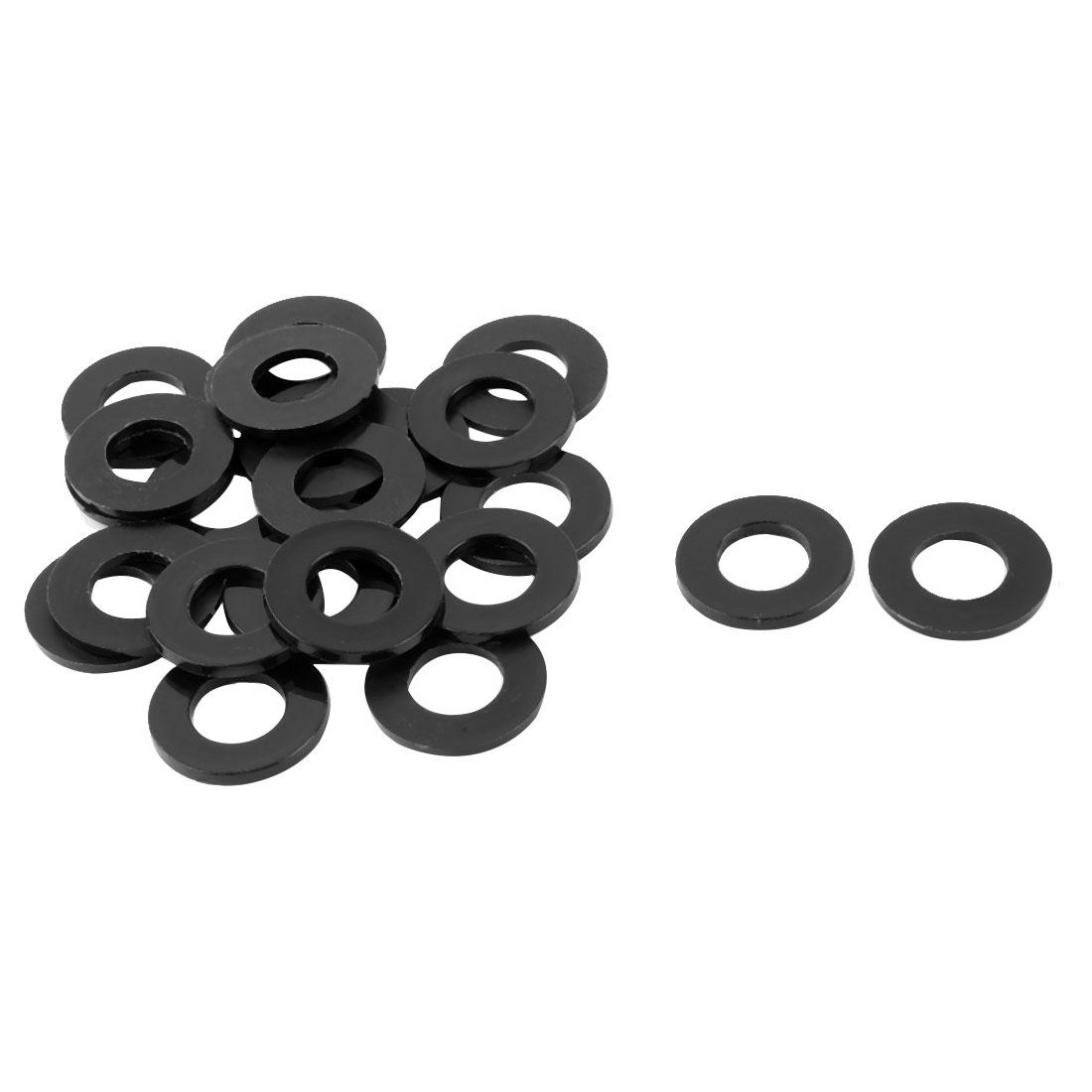 Plastic Replacement Insulating Flat Washer Gasket Black 24mm x 12mm x 2mm 24 Pcs - image 1 de 1
