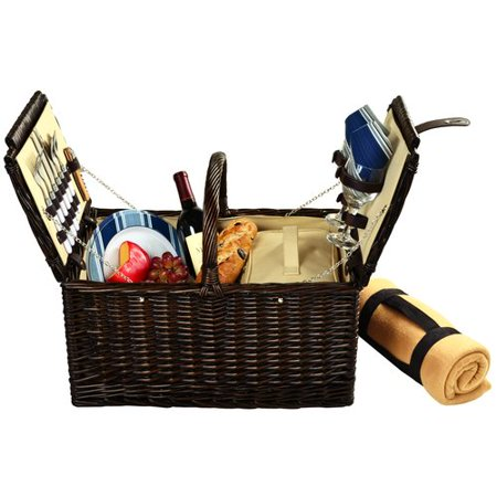Picnic At Ascot Surrey Picnic Basket  with Blanket for Two