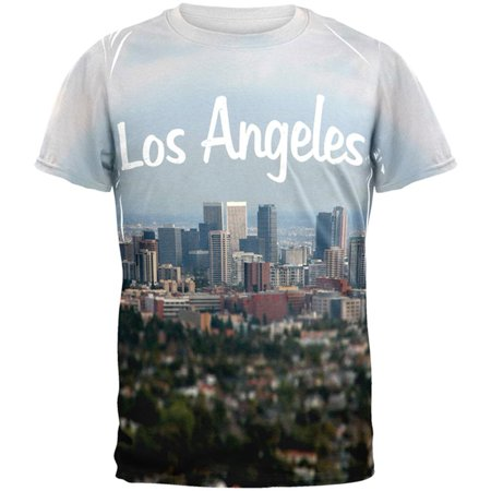 Halloween City Los Angeles (Distressed Los Angeles City All Over Adult)