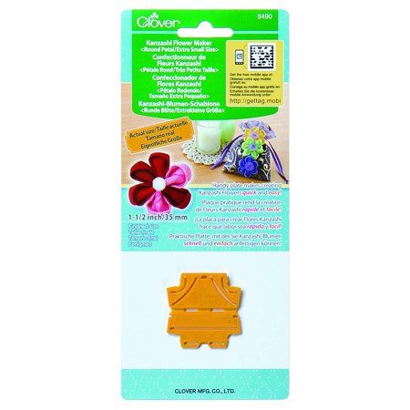 8490 Kanzashi Flower Maker Round Petal Quilt Pattern, X-Small, Fabric flower quick and easy By Clover