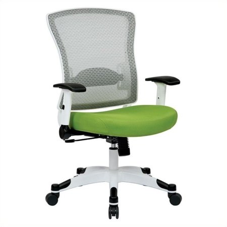 Office Star Pulsar White Frame Managers Office Chair in Green