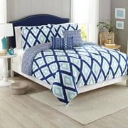 Better Homes and Gardens 5-Piece Bedding Comforter Set, Diamond Ikat