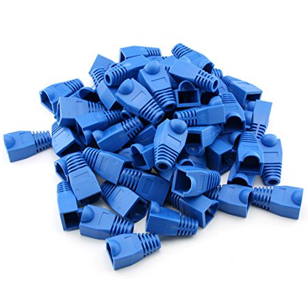 Maxmoral 100-Pack CAT5E CAT6 RJ45 Ethernet Network Cable Strain Relief Boots - Blue - image 4 de 4