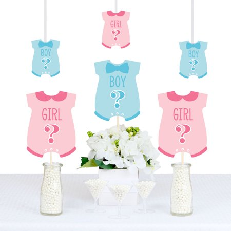 Gender Reveal - Baby Bodysuit Baby Shower Decorations DIY Party Essentials - Set of 20 (Gender Reveal Decorations)