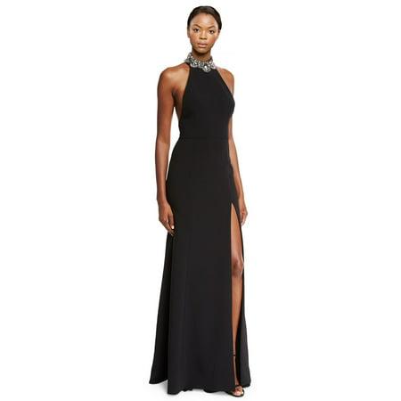 1fcebb0f Marchesa Notte - Marchesa Notte Embellished Crepe Halter Evening Gown Dress  - Walmart.com
