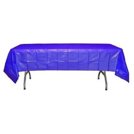 Exquisite Blue Plastic Tablecloth, 108 x 54 Inch, Bulk 12 Pack - Blue Plastic Tablecloth