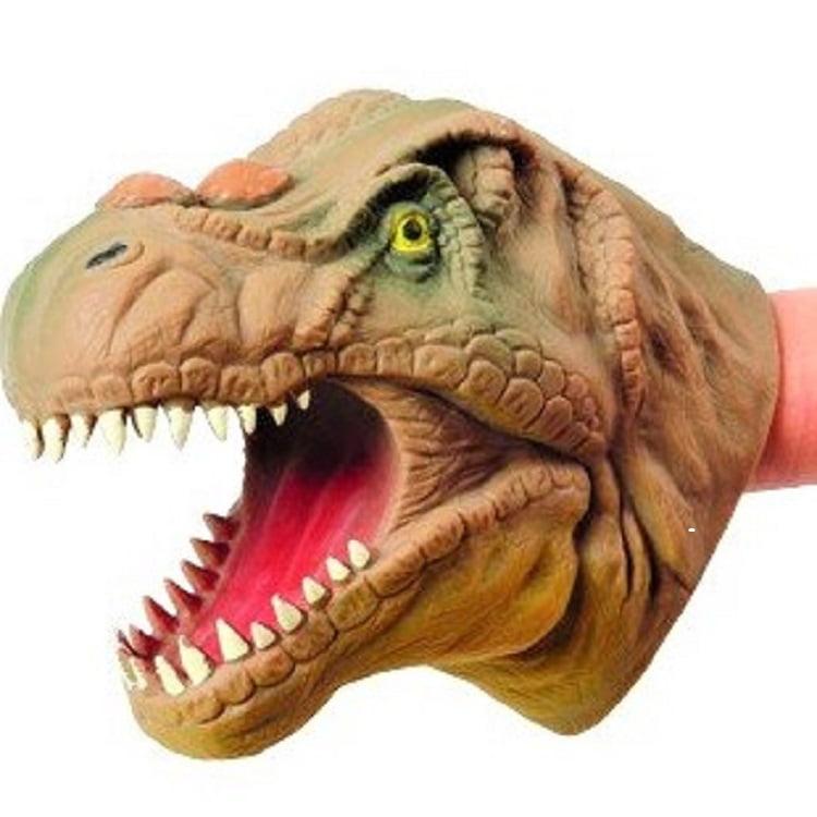 Soft Hand Puppet Rubber Realistic 6 Inch Tyrannosaurus Rex Dinosaur Hand Puppet
