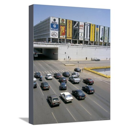 Downtown, Main Thoroughfare and Shopping Mall, Brasilia, Brazil, South America Stretched Canvas Print Wall Art By Geoff (South Plain Mall)
